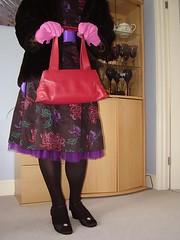 prissy 011_mod (Karla Tv1) Tags: pink fur sissy handbag pantyhose crossdress radley