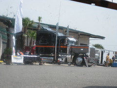 75 Chrome Shop - 12th Annual Truck Show - 2010 (FormerWMDriver) Tags: auto show tractor shop truck big shiny display wheels semi clean stop bumper chrome commercial rig trucks interstate trailer custom rim wildwood rims 75 i75 polished stacks peterbilt bumpers chromeshop