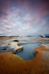 Namanskard Sunrise (palnick) Tags: hot nature field sunrise landscape iceland dangerous nikon mud alba smoke dramatic ground steam gas soil crater smell sulfur multicolored geothermal cracked myvatn icelandic mudpots islanda krafla geothermic namaskard fumarole hverir