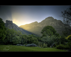 Kirstenbosch (Chantal Steyn) Tags: park trees light sunset mountains green landscape southafrica nikon capetown kirstenbosch hdr d300 1685mm