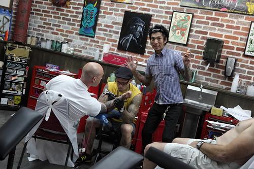 yojiro Ami James tattooing