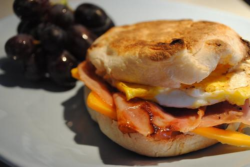 Ham and Egg English Muffin