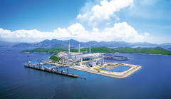 HKE arielshot of Lamma Power Station extension by indiapowdercoating