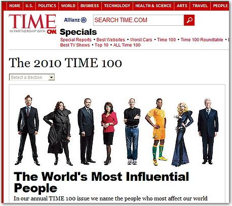 世界で最も影響力のある100人