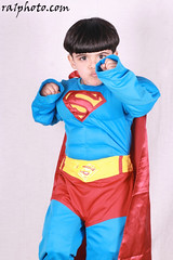 You Are My Superman ... (Daddy's Girl.) Tags: boy cute studio kid superman cousin kuwait q8 hashem ra1 hashomee