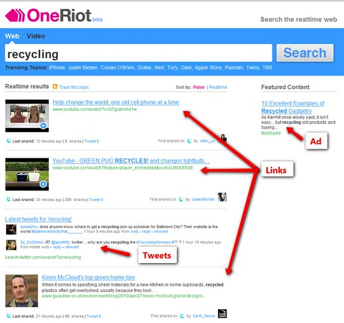 OneRiot and Twitter Search