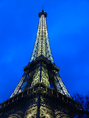 Eiffel Tower early evening