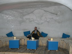Me at the White Lounge Igloo Bar (traveling peter) Tags: wood blue winter portrait white snow alps ice me water wall bar bench table austria march bottle europe sitting candle lounge gray bull indoors hide skiresort backpack inside cushion tyrol igloo zillertal 2010 ahorn igloobar whitelounge travelingpeter mountahorn ahornmountain larscam year2010 zillerrivervalley