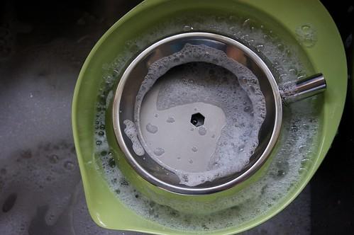 washing it up