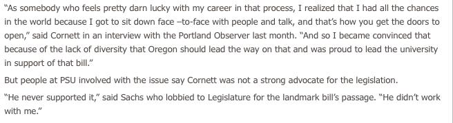 Portland Observer on Cornett, part 1