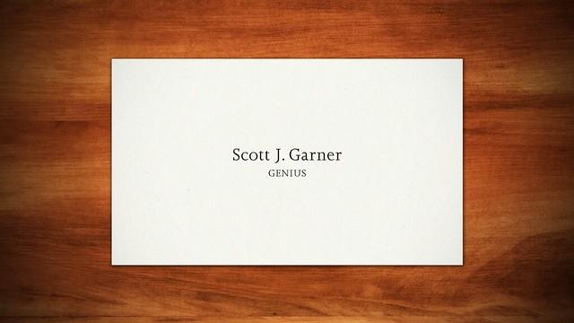 Scott J. Garner, Genius
