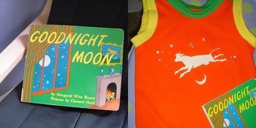 kids' clothes week: goodnight moon shirt.