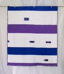 Midnight 2 (Back) (PioneerValleyGirl) Tags: blue white house color geometric home lines modern design back colorful purple quilt bright handmade contemporary decorative interior sewing stripes crafts massachusetts creative stripe violet indigo craft sew monochromatic fresh bamboo line lap textile homemade fabric cotton decorating blanket quilting quilted etsy crafty patch patchwork simple decor scrap binding throw crafting bold linear bibliophile backing pieced pioneervalley lapquilt bibliophile1 pioneervalleygirl