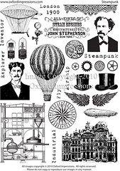Steampunk rubber stamps - Oxford Impressions (oxfordimpressions) Tags: stamps rubber steampunk unmounted oxfordimpressions