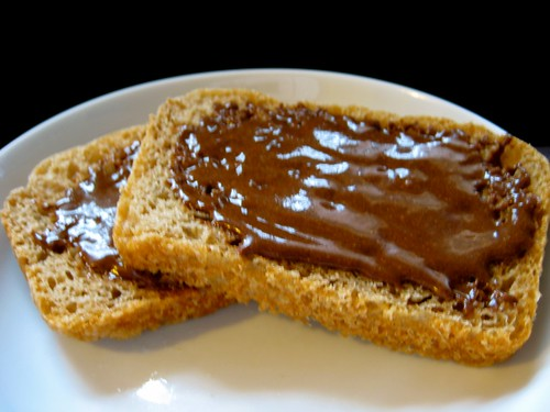 bread with nutella