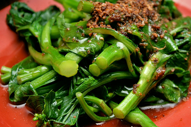 Oyster sauce vegetables with garlic