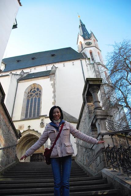 Cesky Krumlov 庫倫諾夫:聖維塔教堂(Church of St. Vitus):建於1407年,是全鎮最典型的哥德式建築