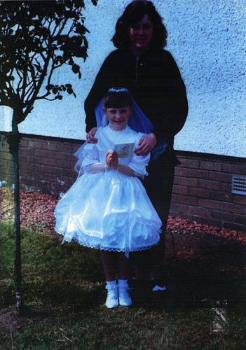 Sharon and Lyndsay Simon, Holy Communion St Saviours Primary, May 1988