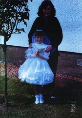 Image titled Sharon and Lyndsay Simon, Holy Communion St Saviours Primary, May 1988