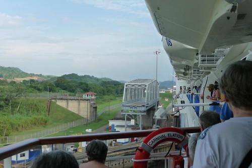 Entering Miraflores Lock