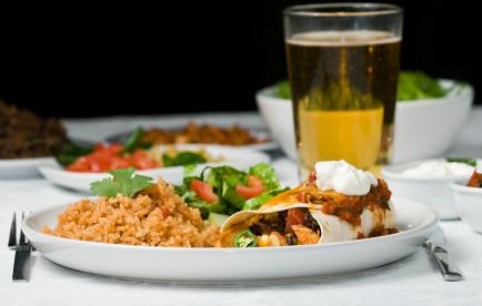 Gourmet mexican dinner