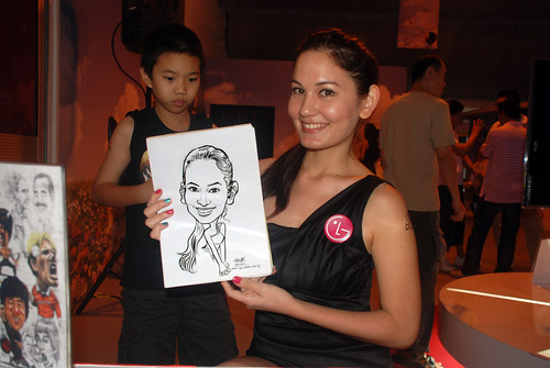 caricature live sketching for LG Infinia Roadshow - day 2 -6