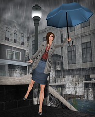 Even Optimists Carry Raincoats - 1 (:: Fayne Khandr ::) Tags: rain weather fashion umbrella truth sl secondlife dela belleza glitterati shinythings ingenue geez pixeldolls alienbear veschi reelexpression candynail amacci faynekhandr yourskinyourshape styligion