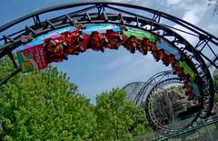 Demon ad wrap (Johnny Heger) Tags: advertising illinois nikon flags demon amusementpark rollercoaster arrow six corkscrew dynamics themepark sixflagsgreatamerica rollercoasters gurnee d40
