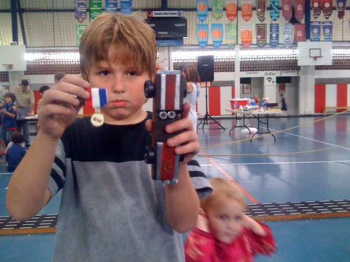 "Pinewood derby, Gibson, car, and medal • <a style=""font-size:0.8em;"" href=""http://www.flickr.com/photos/28749633@N00/4629837115/"" target=""_blank"">View on Flickr</a>"