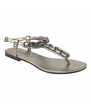 NL Pewter jewel sandals