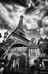 Paris Paris in Las Vegas Black & White (Werner Kunz) Tags: world sky urban bw usa white gambling money black paris france night america photoshop french hotel town us nikon lasvegas wideangle center casino lucky stadt 100 40 sight hdr metropole photomatix 20fav explored gambeling colorefex nikond90 topazadjust lucysart werkunz1