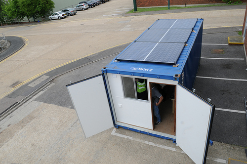 View of our Solar Cafe from above