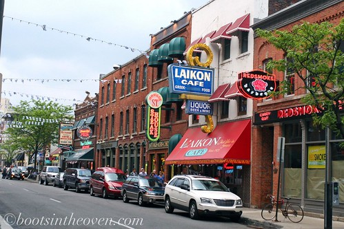 Greektown - the pretty block.