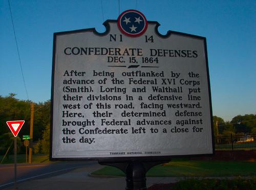 Historical Marker Commemorating a Civil War Battle