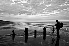 A Watchers Point Of View (ROB KNIGHT photography) Tags: uk morning light sea england sun water sunrise early photographer tide hull groyne 2010 withernsea humberside spurnhead robknight axeman3uk robknightphotography