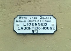 ( S ) Laughter House Wath Upon Dearne (woodytyke) Tags: wath upon dearne licensed slaughter house no 3 warehouse lane church street building render woodytyke uk england english britain british south yorkshire rotherham urban valley old history tannery local market district council laughter stephen woodcock photo flickr photographer photograph picture image digital camera phone colour color country national foto best 1 2 4 5 6 7 8 9 10 photography composition light publish print buy free licence book magazine website blog instagram facebook commercial