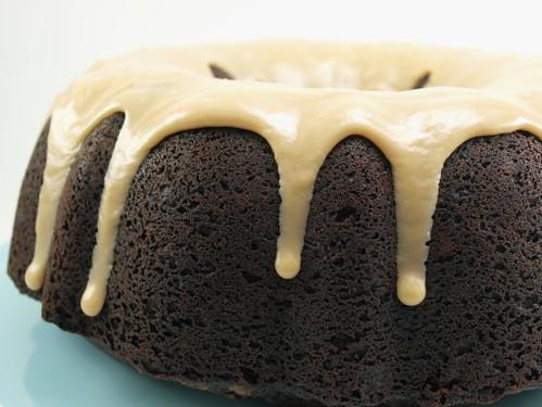 Chocolate Peanut Butter Chip Bundt Cake