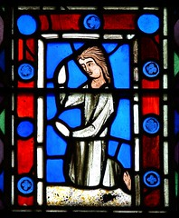 Medieval french stained glass  East window - Twycross