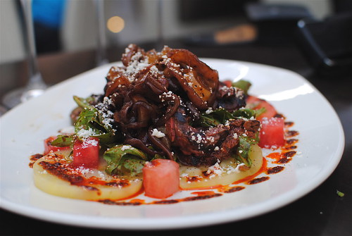Red O Steak and Heirloom Tomato Salad