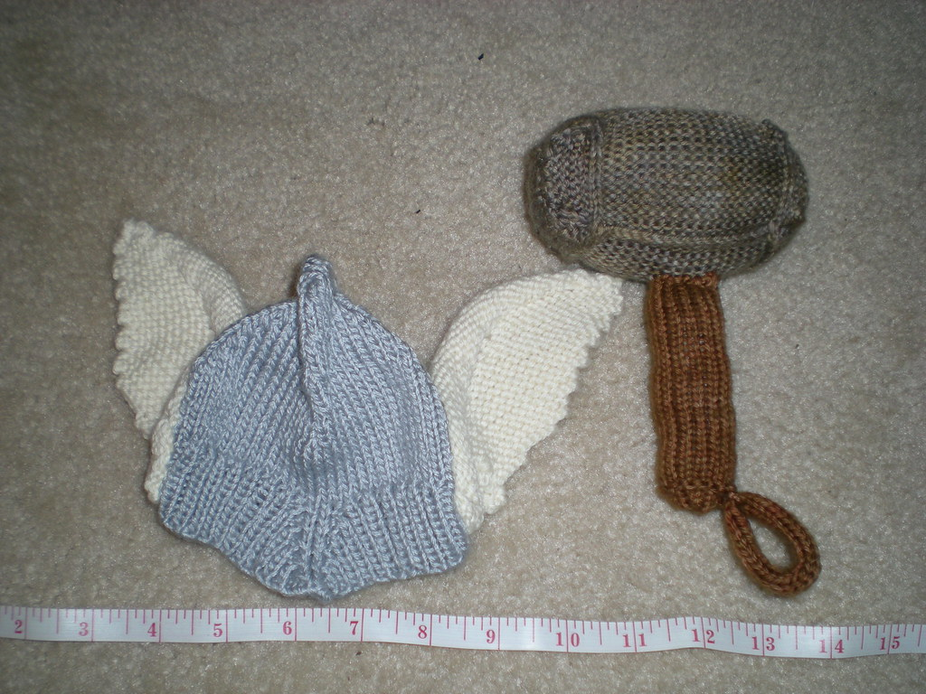 Baby Thor Gifts Rattle Hat Ridiculously Cool Knithacker