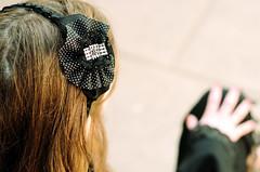 Cintillo Negro con flor de Algodn (Chokorto) Tags: black girl negro rosa cinta imagen encaje algodn puntitos escoses contillo
