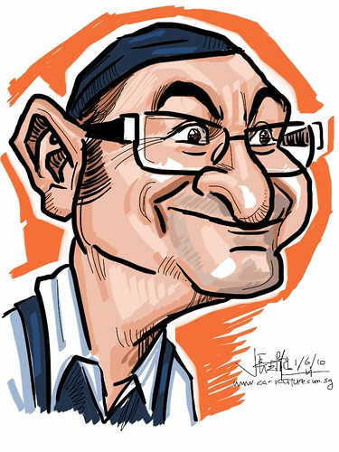 digital caricature of Tuncay Erol - - drawn with iPad