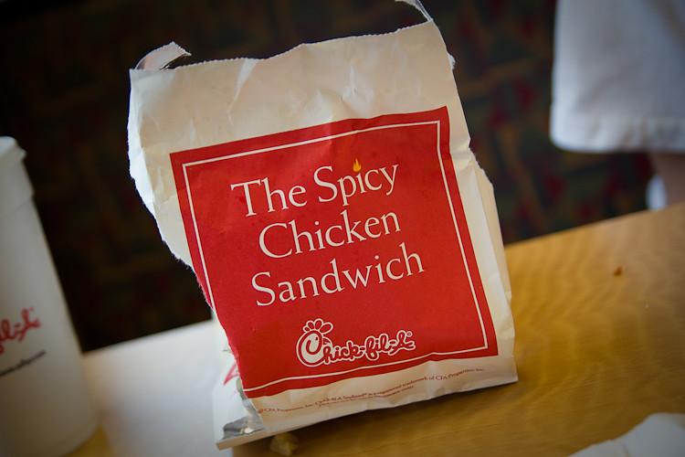 the spicy chicken sandwich