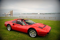 Ferrari 308 (Andrew Waddell Photography) Tags: auto show camera ri sports car island photography italian nikon automobile open harbour top convertible andrew ferrari 328 exotic newport series dslr rhode concours rosso supercar picnik 2010 corsa waddell 308 backround d3000 newportconcours2010