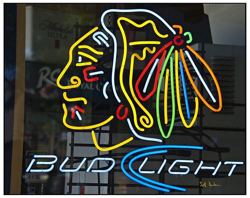 Chicago Blackhawks Neon