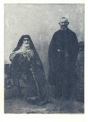 Shushi Armenian aristocratic couple (517design) Tags: armenia postcards shushi oldpostcards karabakh artsakh artsakhnagornokarabakhrepublic