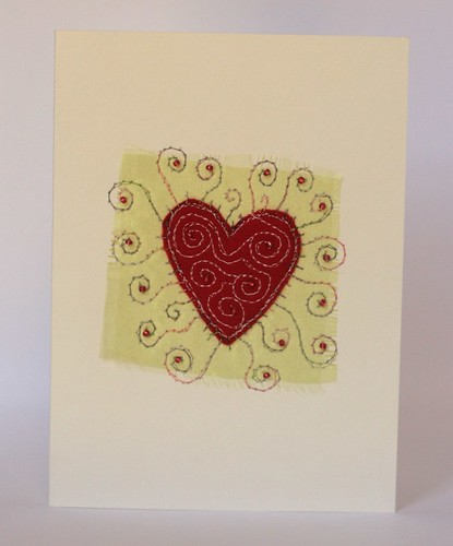 hand embroidered greeting card by cliodhna