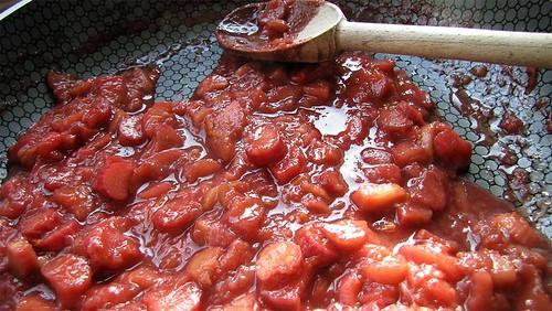 Rhubarb stewed