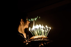 DSC01608 (buniii) Tags: birthday light girl cake dark happy warm ear portrat