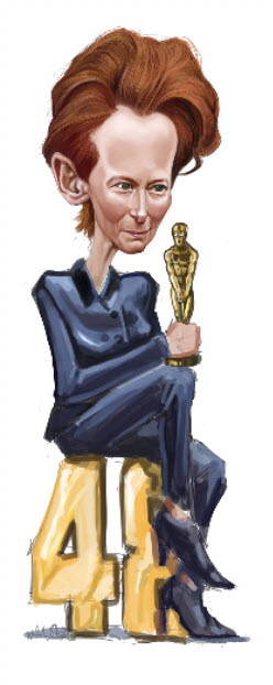 digital caricature of Tilda Swinton - 6